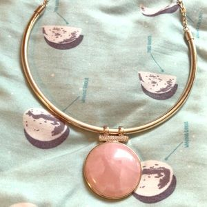 beautiful pink and gold necklace